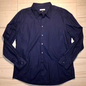 Versace Pinstripe Dress Shirt